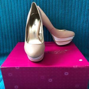 "Showstopper Shoedazzle ""Taya"" platform stilettos"